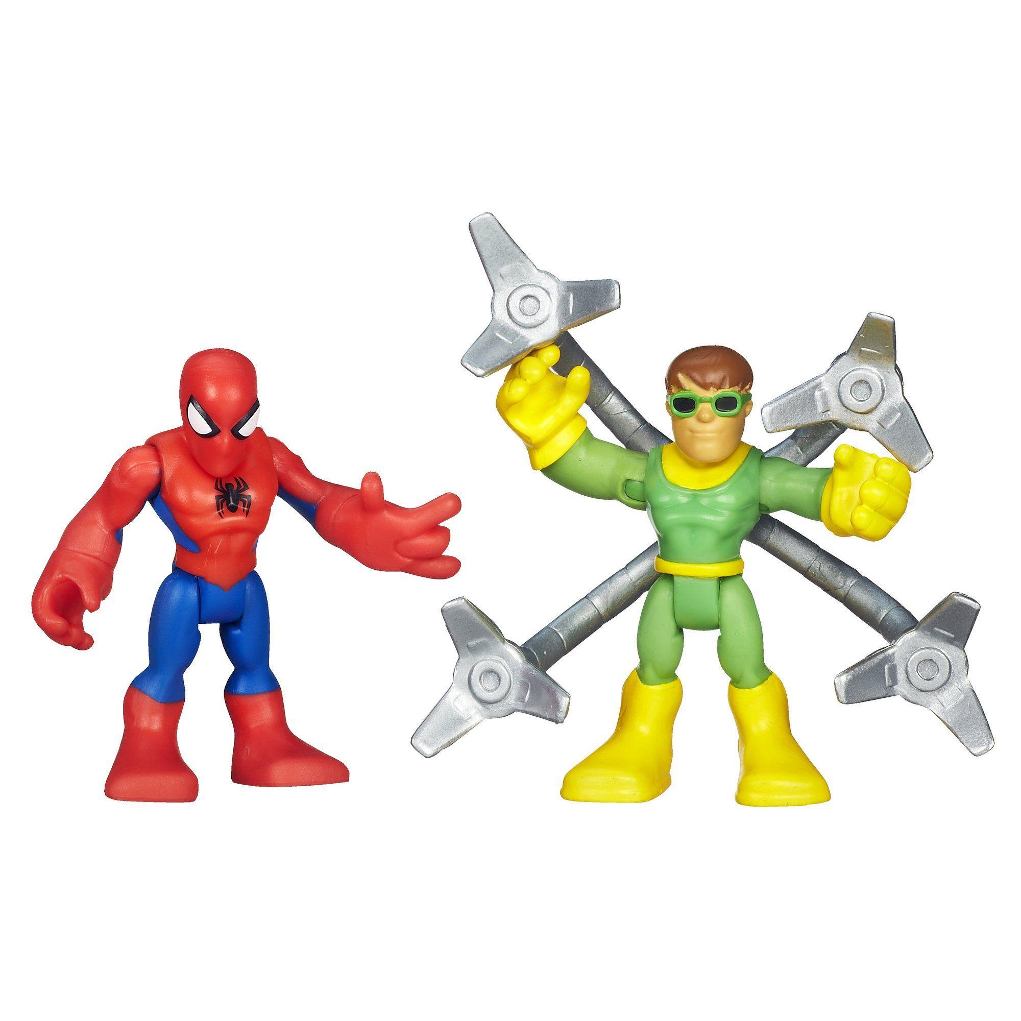 Playskool Heroes Marvel Super Hero Adventures Spider Man and Doc