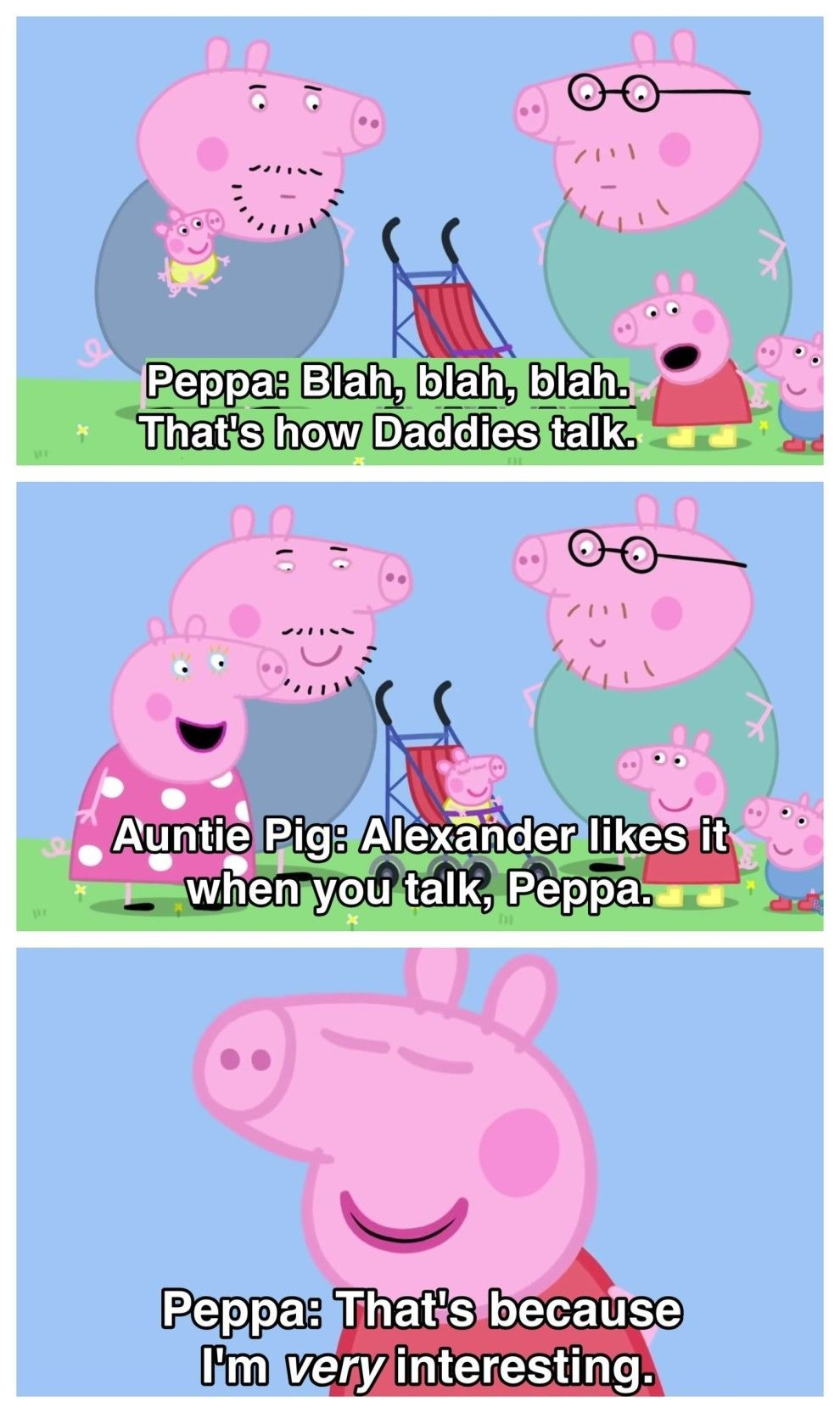17 Times Peppa Pig Was Just An Absolute Savage Peppapig When She Couldn T Bear To Listen Her Dad And Uncle S Convers Peppa Pig Funny Peppa Pig Memes Peppa Pig