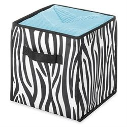 Cool Animal Print   Zebra Storage Cube   Dorm Room Organizer With Style