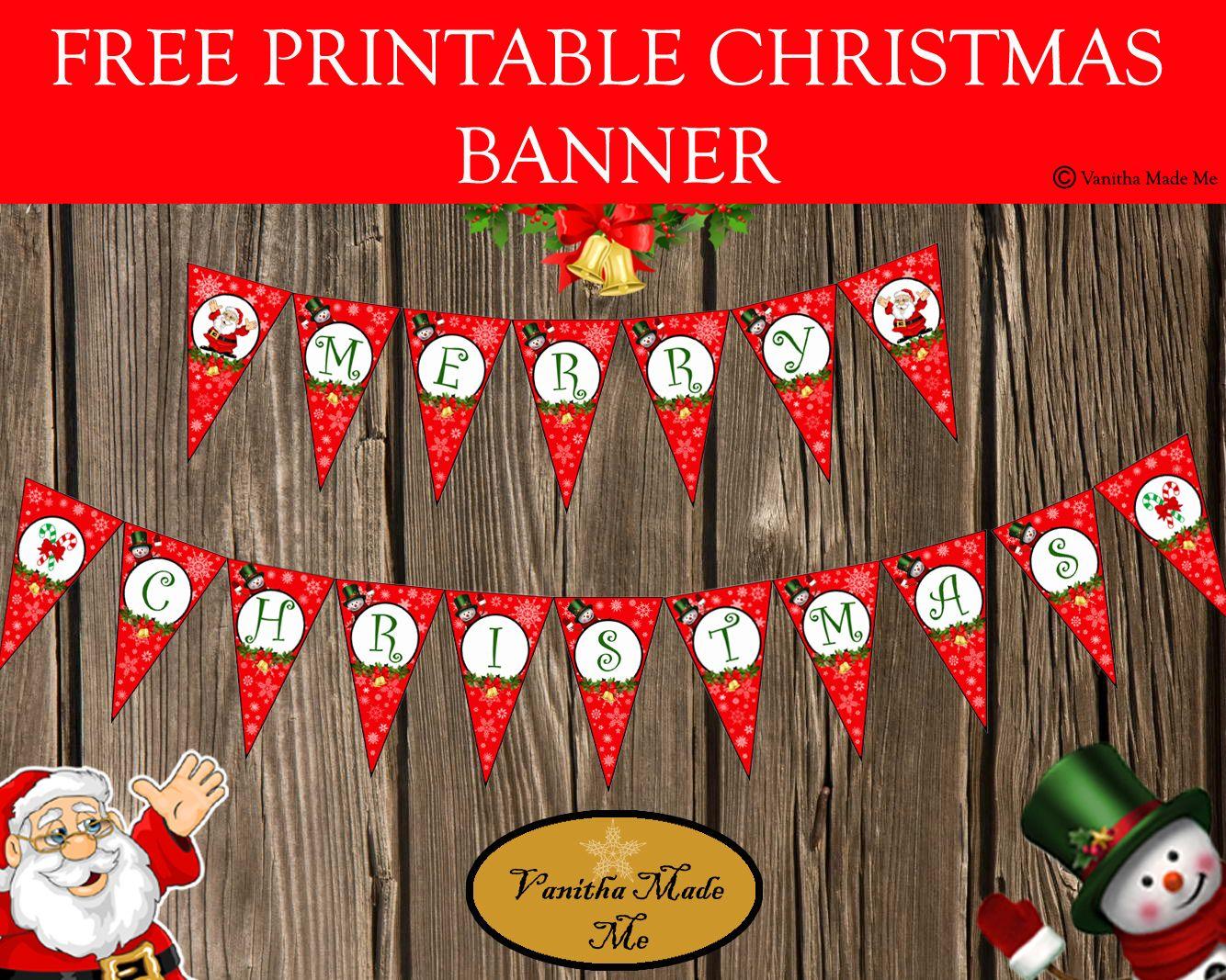 photograph about Free Printable Christmas Banner identify Totally free printable xmas banner kreatívságok
