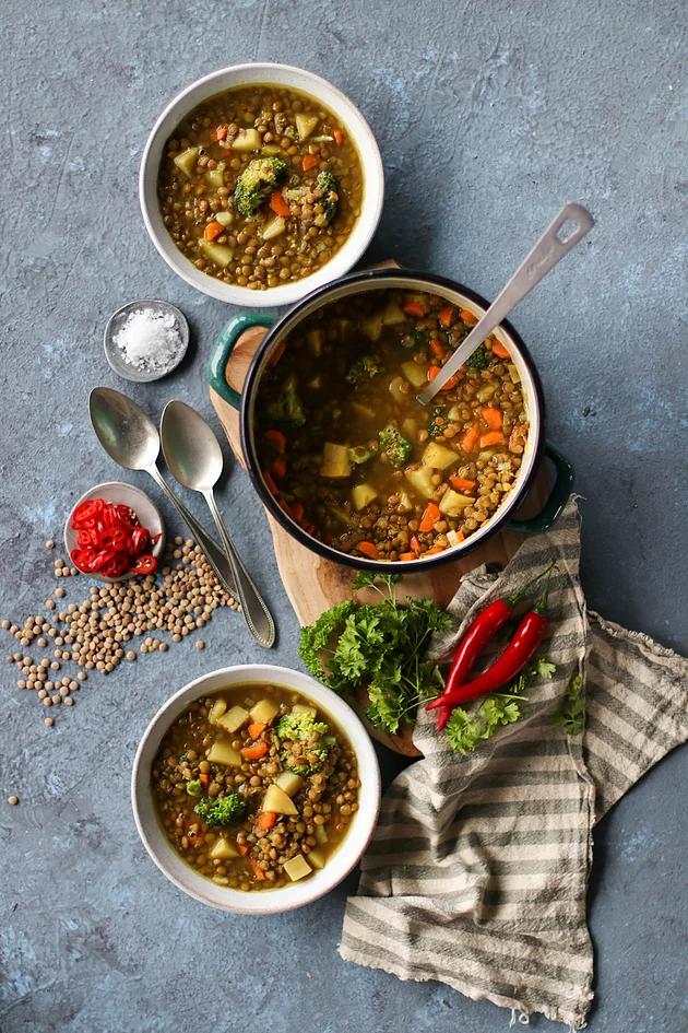 One Pot Veggie Lentil Soup Veggie Lentil Soup Lentil Soup Lentil Soup Recipes