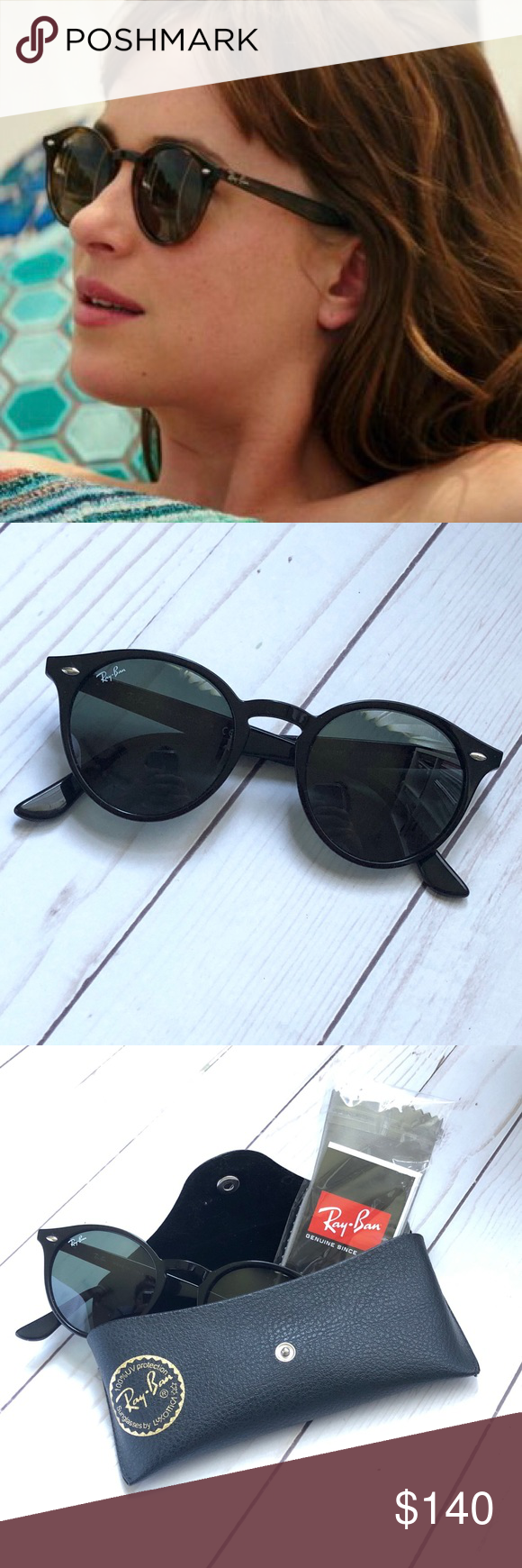 87fcda60aeaf2 Ray-Ban Round Sunglasses Black RB2180 Brand New Ray Bans in perfect  condition - come