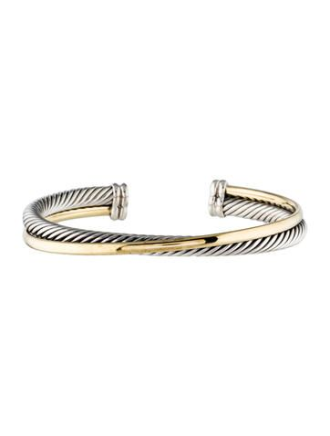 David Yurman Two Tone Crossover Cuff