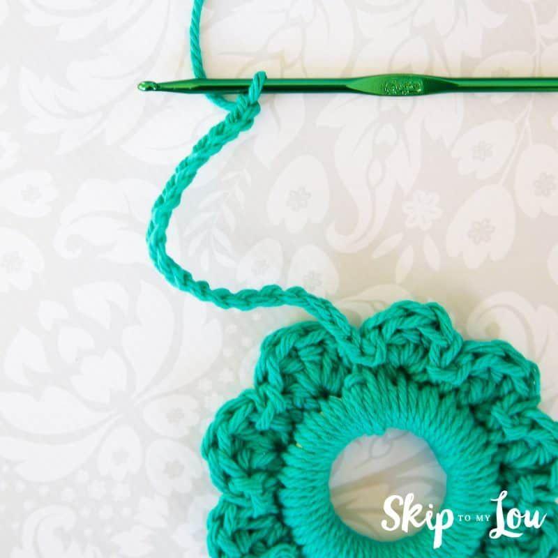 Photo of Simple crochet wreath ornament