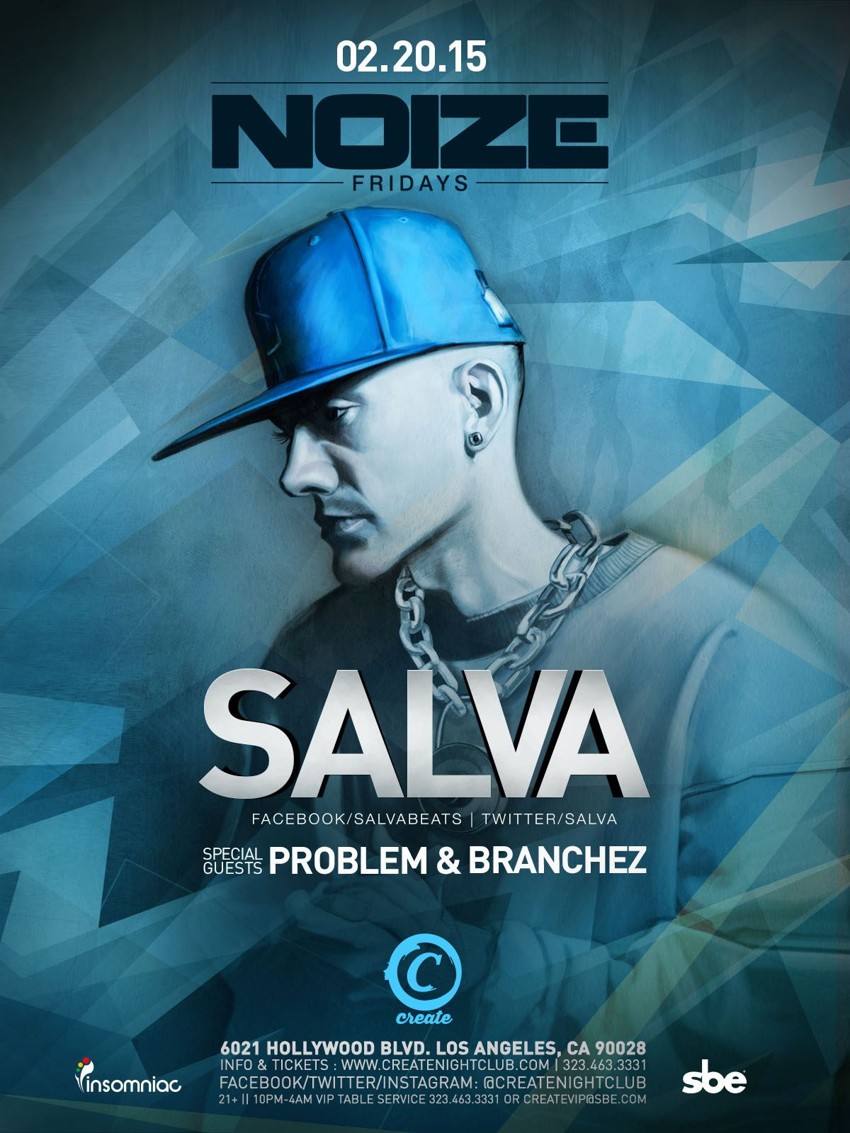 NOIZE FRIDAYS SALVA Event, Insomniac, Hollywood