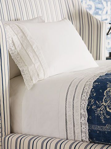 Constance Standard Pillowcase Lace Bedding Bed Linen Design Embroidered Sheets