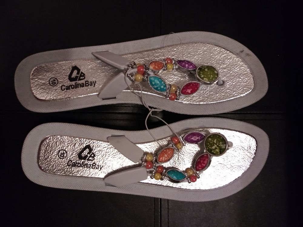 f7d17733c892e Carolina Bay Womens Beach sandals With Gemstones Bling.  fashion  clothing   shoes  accessories  womensshoes  sandals (ebay link)