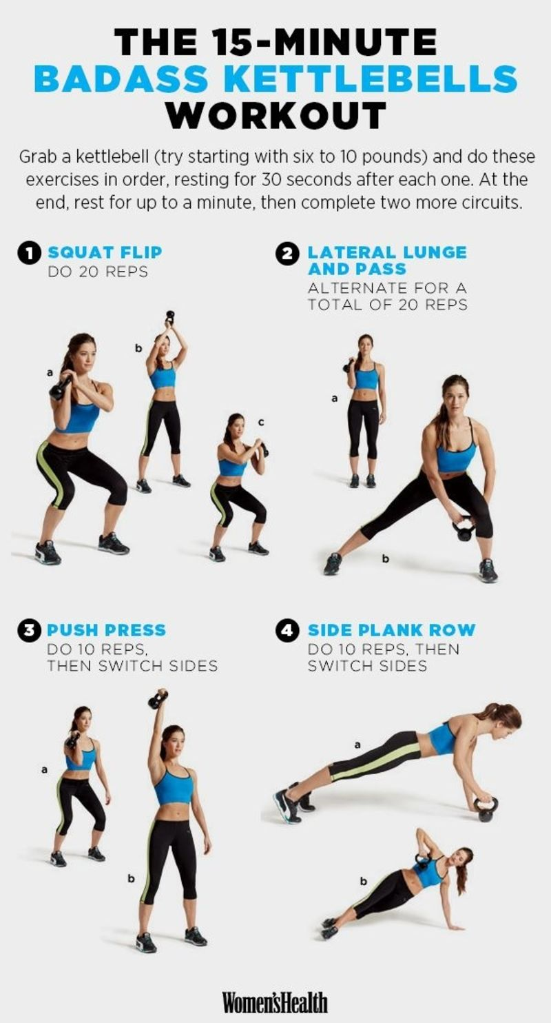Circuito Kettlebell : Kettlebell exercises to tone every inch of your bod