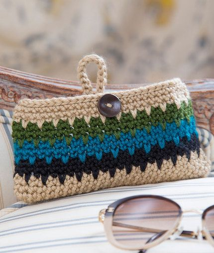 Dynamite Eyeglass Case Free Crochet Pattern in Red Heart Yarns | New ...