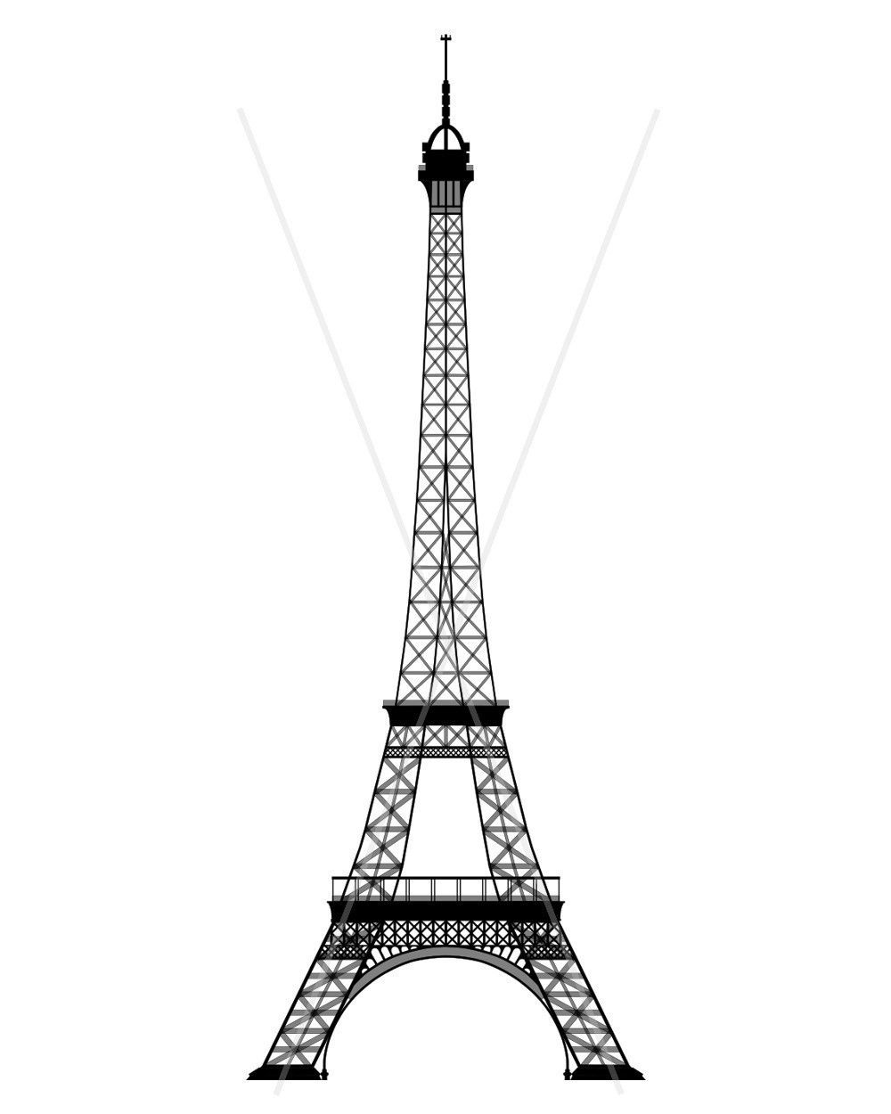 Eiffel Tower Coloring Page Coloring Eiffel Page Tower Free