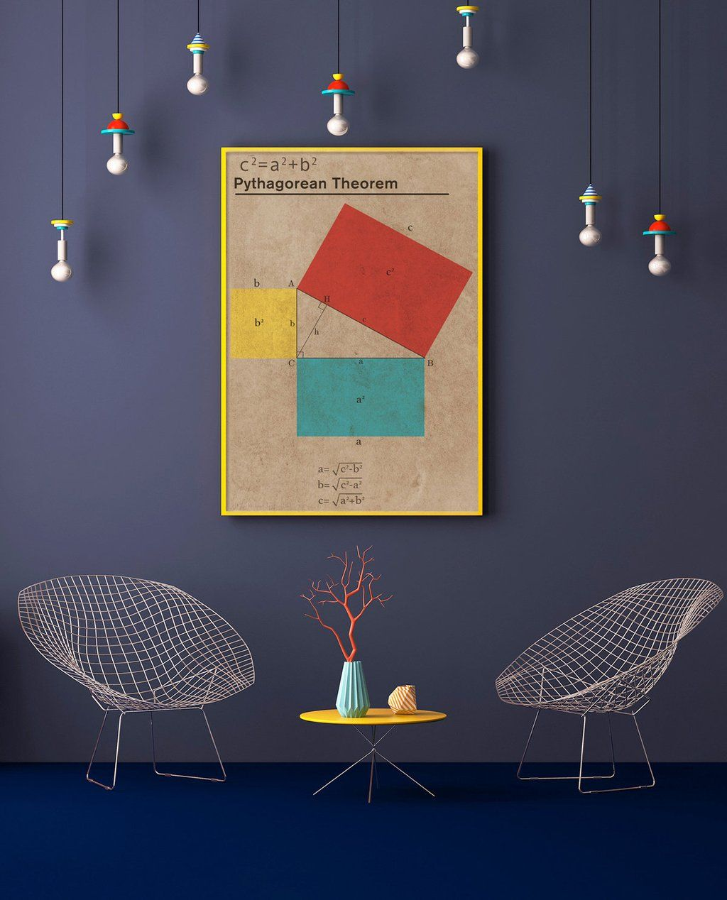 Fresh Ideas - Pythagoras Theorem Mathematical Poster Concept in 2020