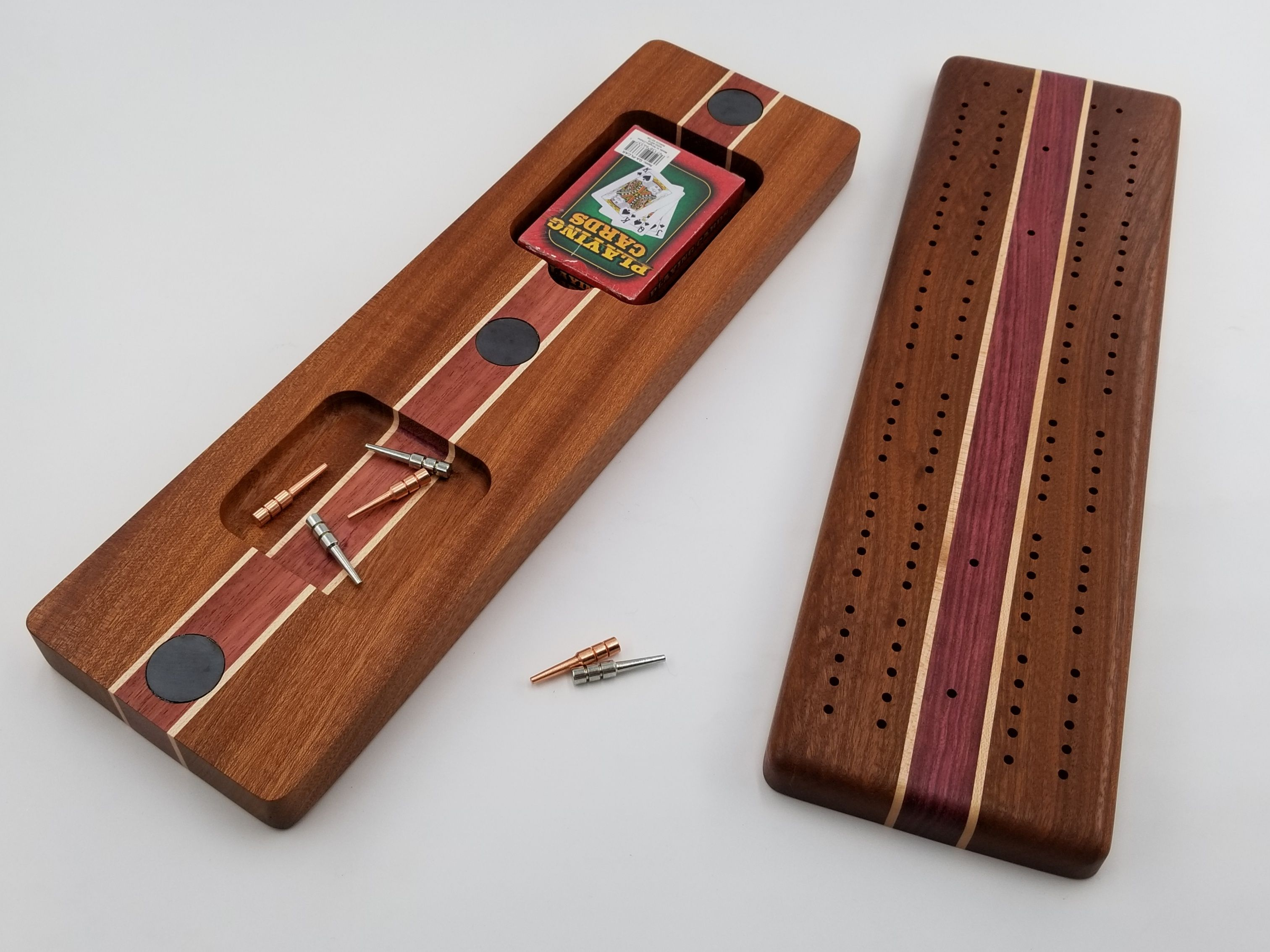 Wood Cribbage Board, Cribbage Board Set, Cribbage Game