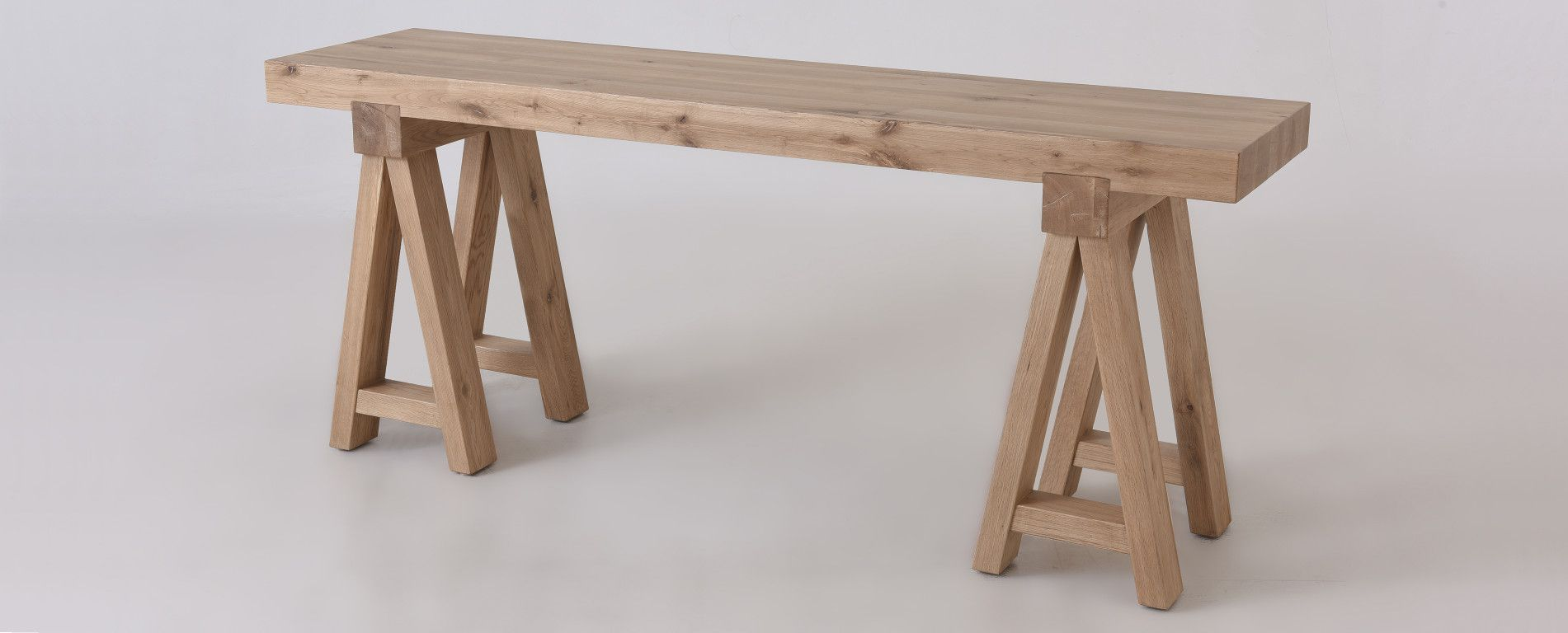 Rylance Console Table Solid Oak W A Frame Legs