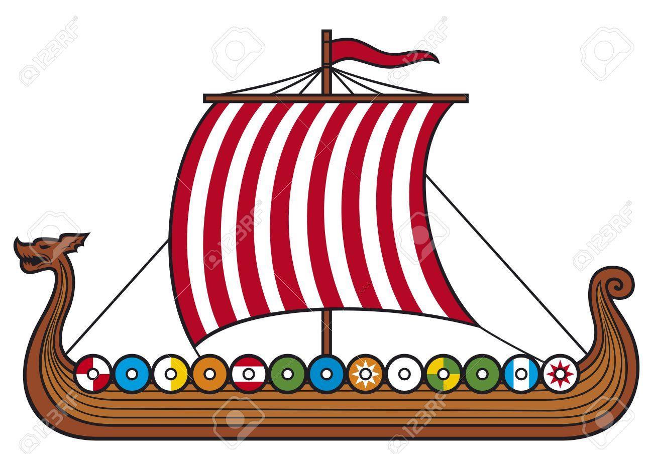 Viking Ship (viking Boat, Viking Long Ship) Royalty Free Cliparts ...