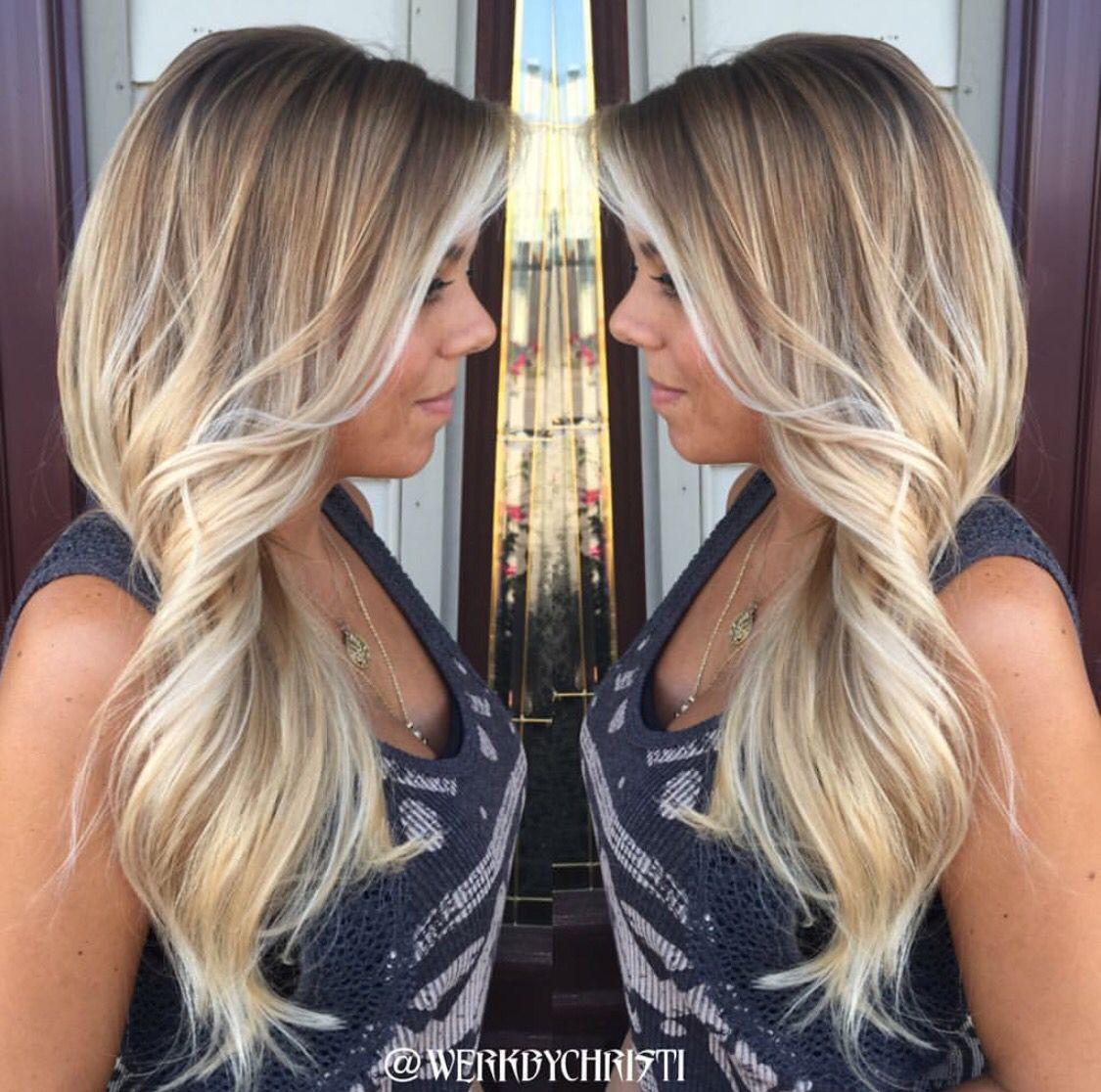 Ash blonde balayage ombre platinum haircolor ombre blonde ombre sunkissed hair perfect - Balayage blond clair ...