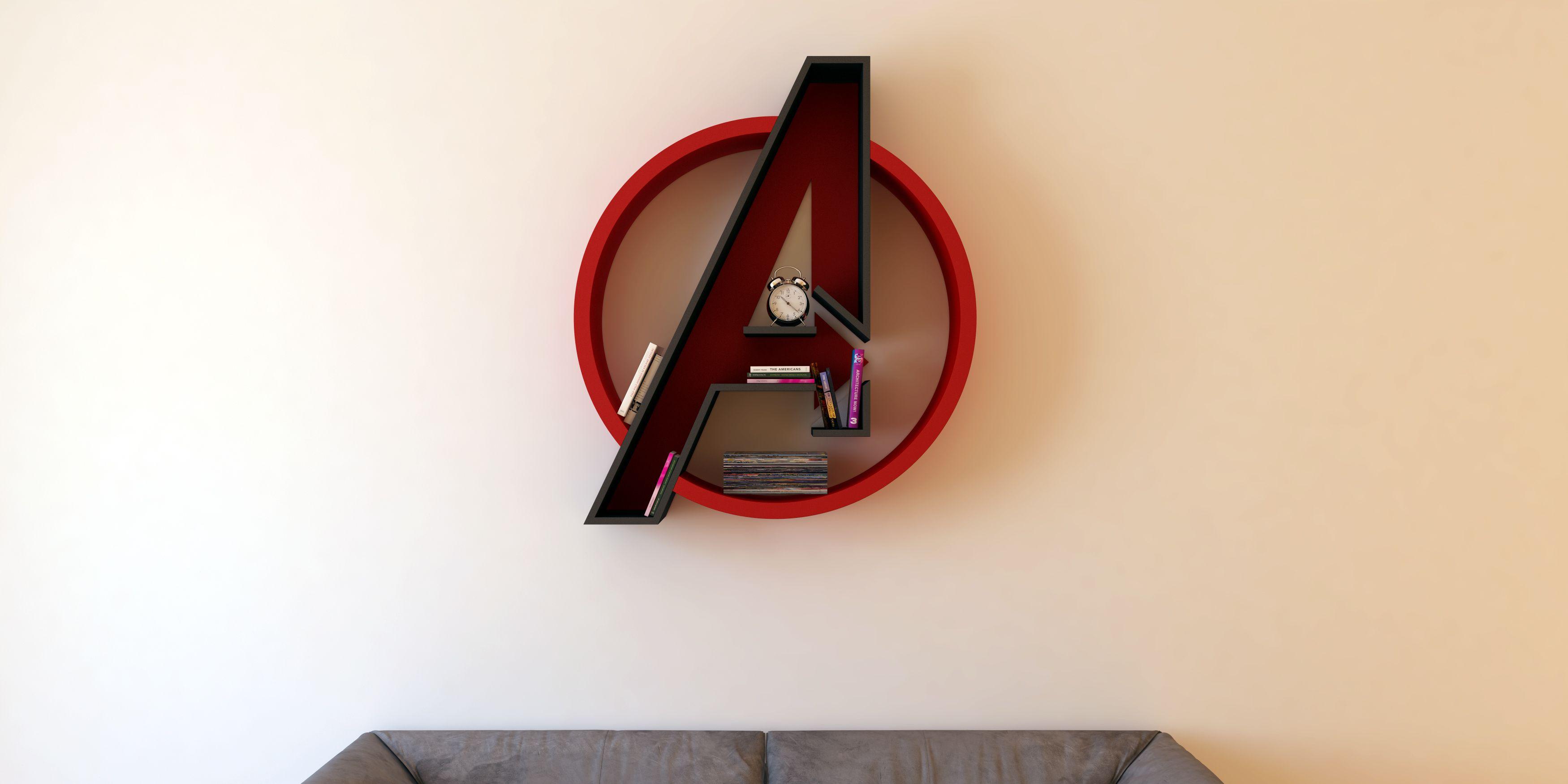 Avengers, Logo, Shelf, Interrior, Library, Bookshelf On Behance
