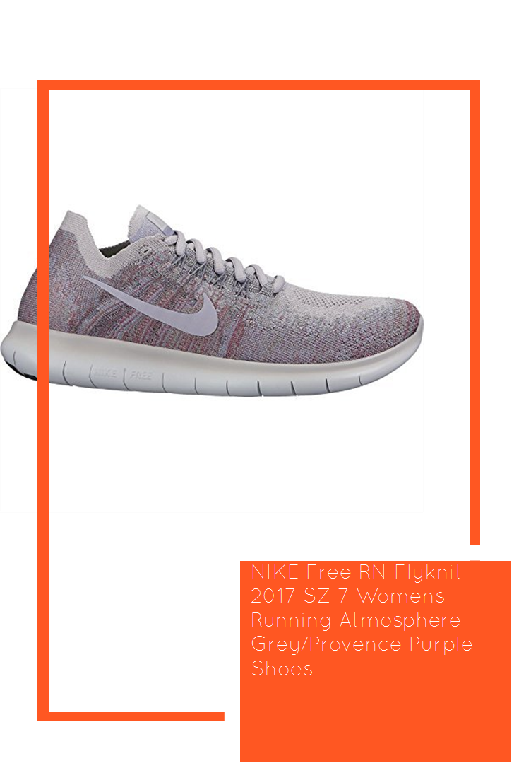 812765f04580 NIKE Free RN Flyknit 2017 SZ 7 Womens Running Atmosphere Grey Provence  Purple Shoes