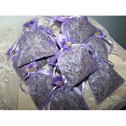 Dried French Lavender Sachets In Lavender Bags