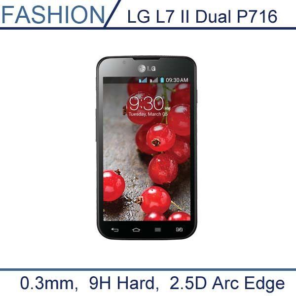 0 3mm premium temperli cam lg l7 ii p715 p716 dual için SIM Kart ile