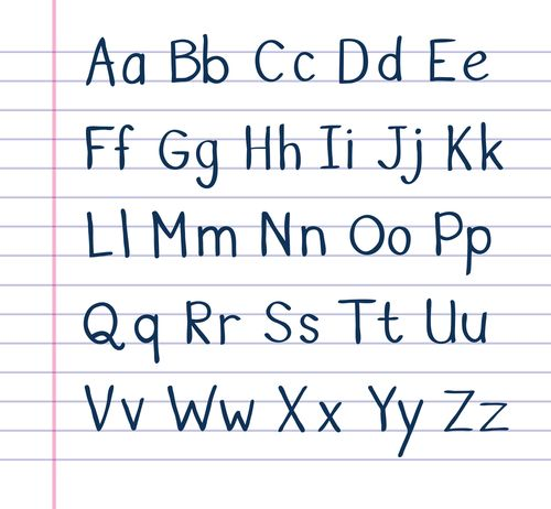 Number Names Worksheets Lower Case Alphabet Chart  Alphabet