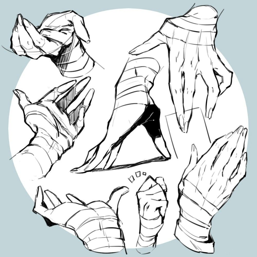 Handbandage Hand Drawing Reference Drawing Reference Hand Reference