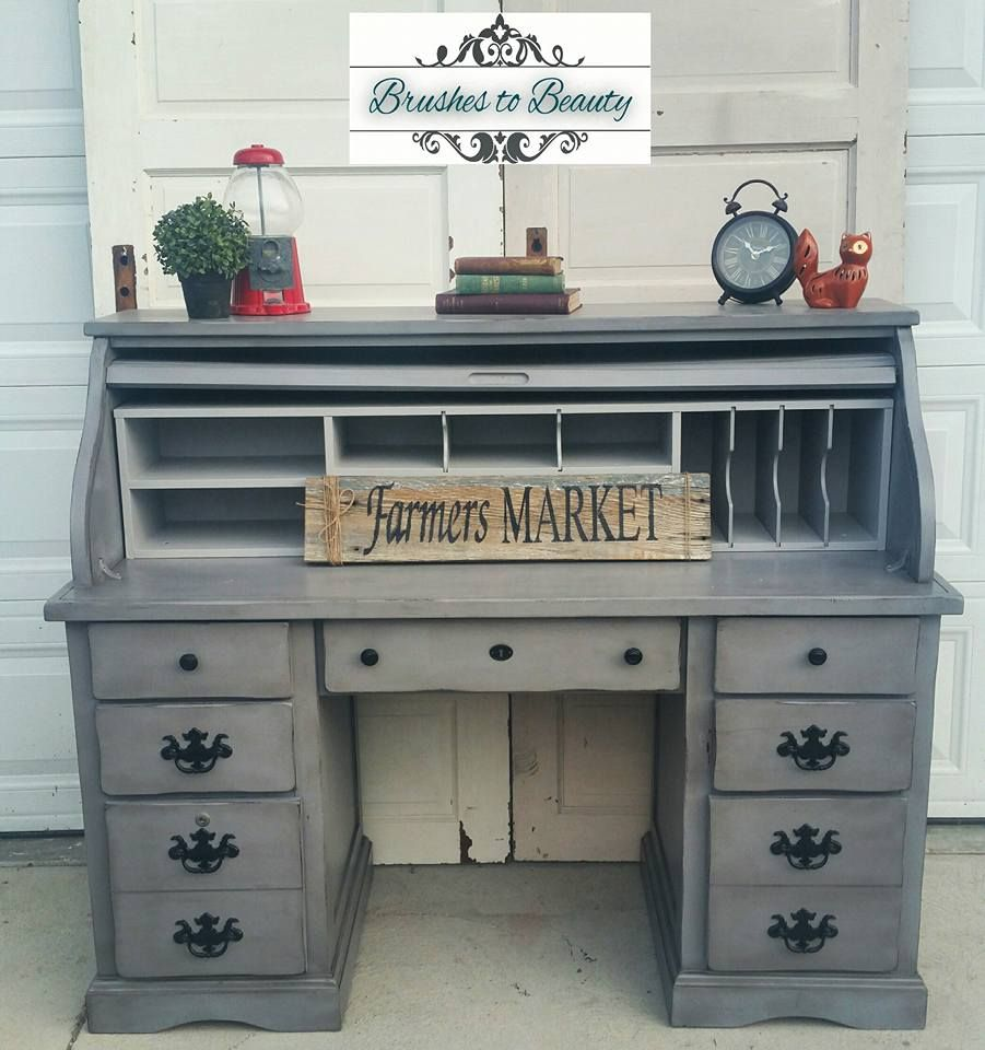 Hutch Makeover Chalk Paint Black