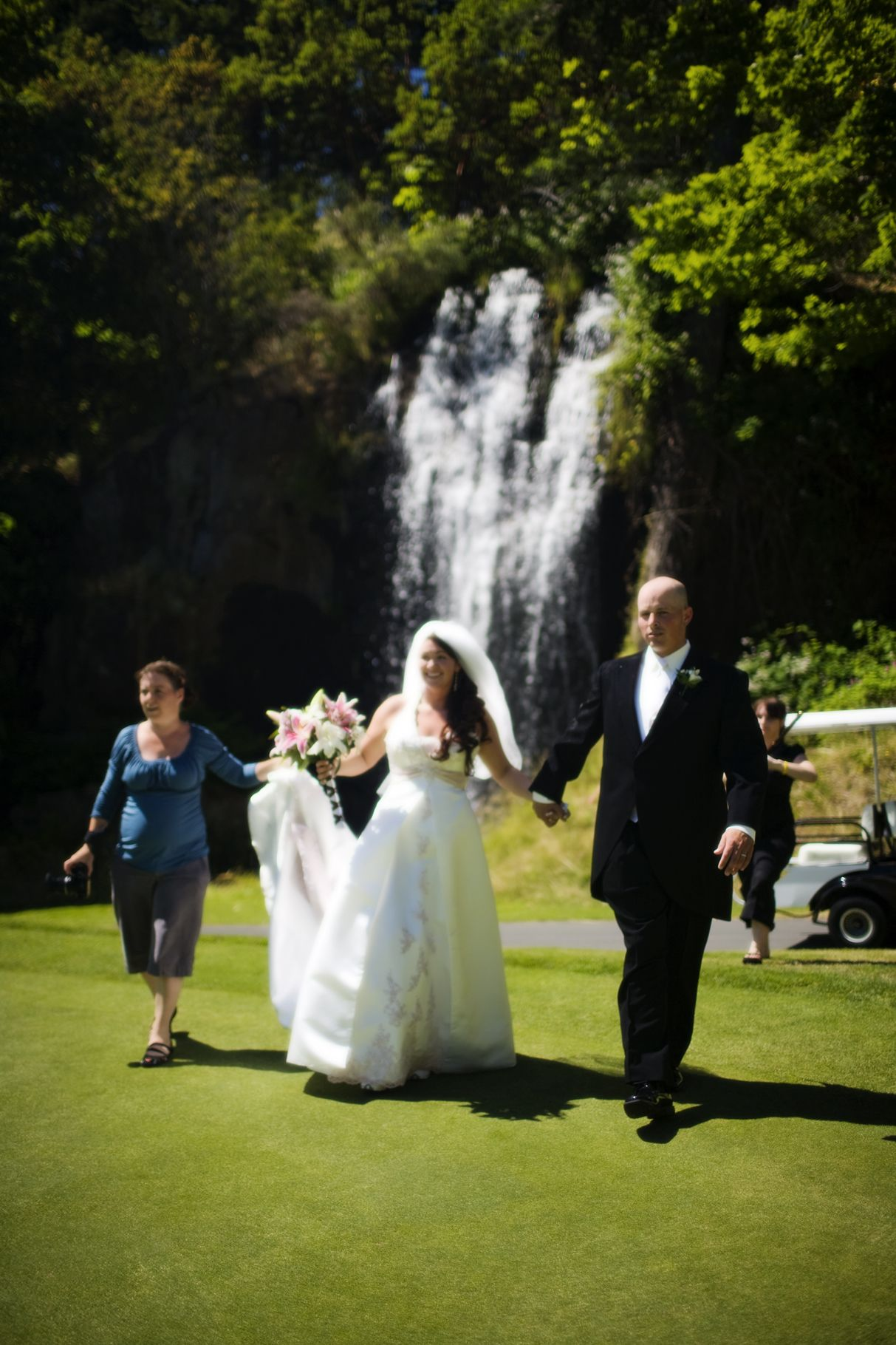 Beautiful 40 Foot Waterfall On Hole 17 At Olympic View Wedding Photo Vancouver