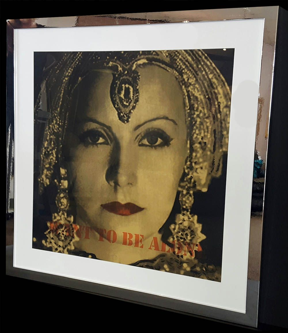 Classic greta garbo poster in brushed reflective art deco picture classic greta garbo poster in brushed reflective art deco picture frame style from larson jeuxipadfo Gallery