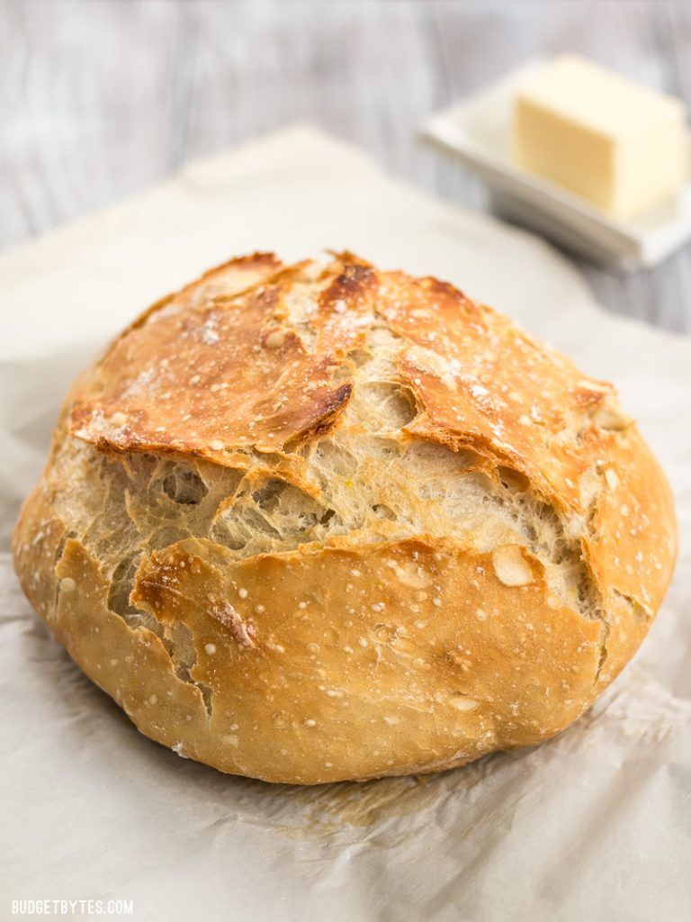 Easy No-Knead Bread Recipe - Step by Step Photos - Budget ...