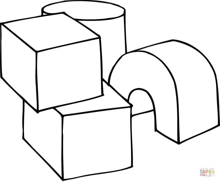 3D Shapes as Play Cubes | Super Coloring | Coloring pages ...