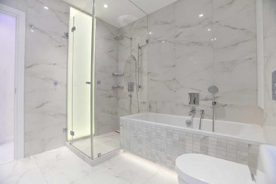 Currently Crushing White Carrera Marble Bath Marble Bathroom