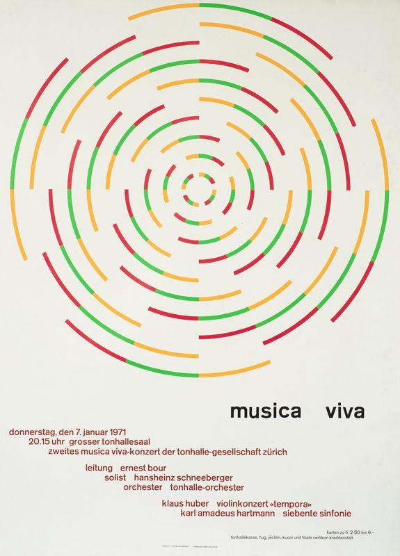 Musica Viva January 7, 1971 by Muller-Brockmann, Josef   Shop ...
