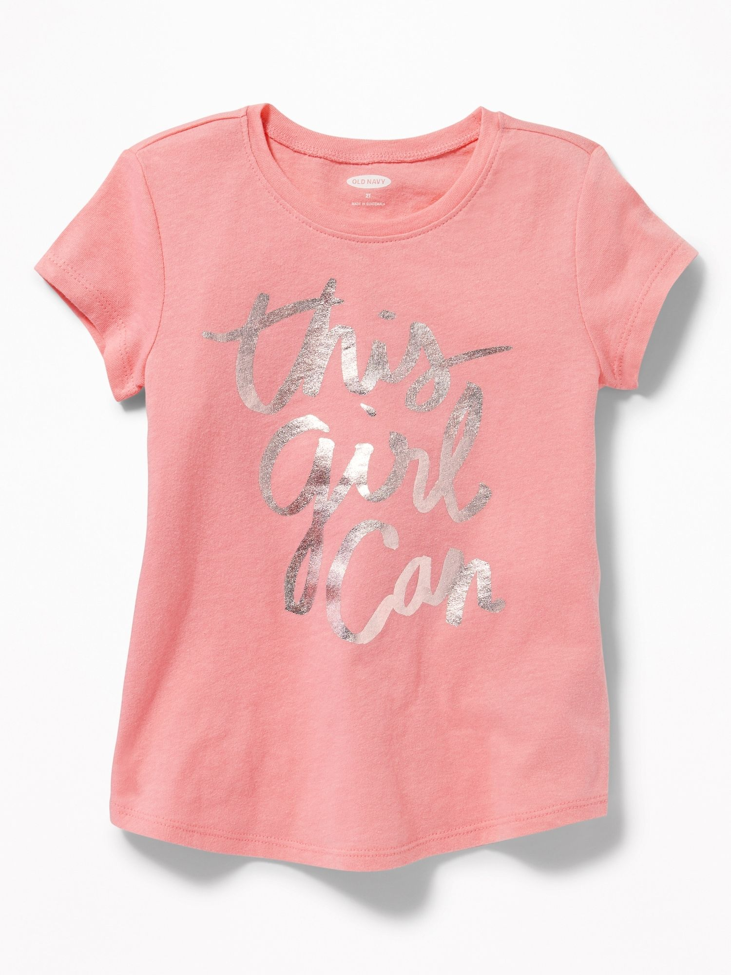 e223fe914a2d60 Long   Lean Graphic Scoop-Neck Tee for Toddler Girls