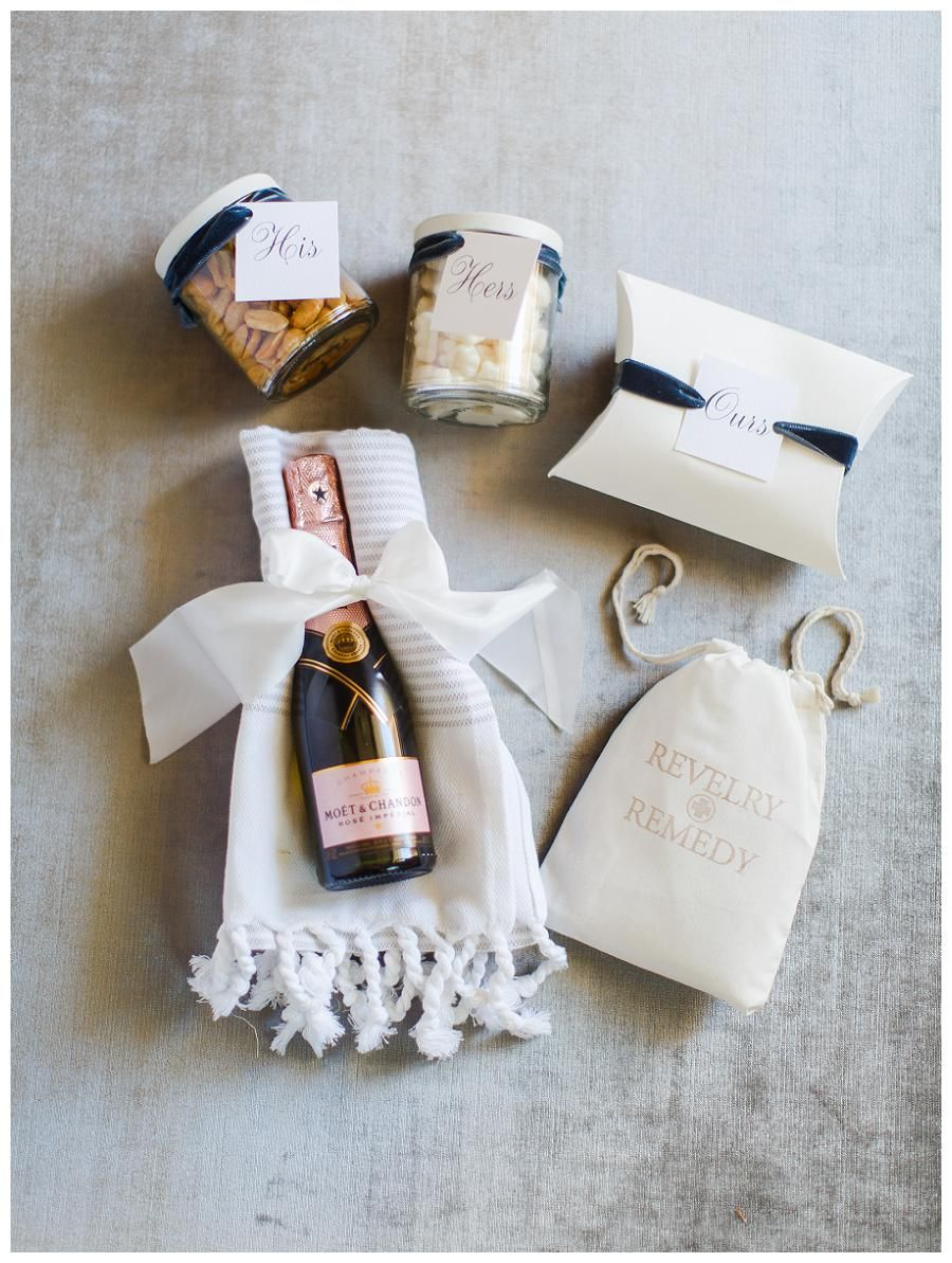 Wedding welcome gift by A Signature Welcome. Image by Rachel May ...