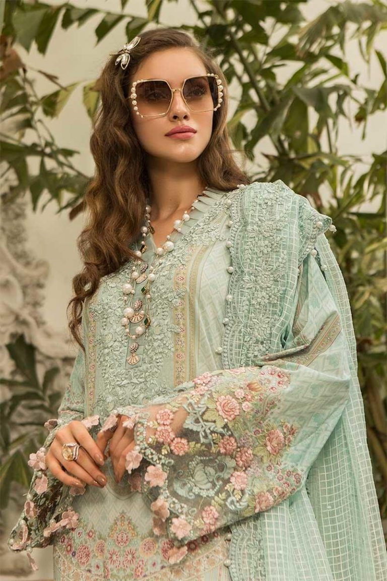 e77e7e3f88 Latest Maria B Eid Lawn Dresses Designs Collection 2019-2020 | 2019 ...