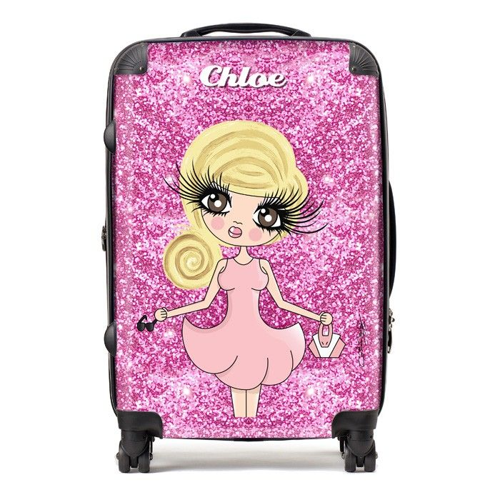 89b58eb30ba42b Personalised ClaireaBella Glitter Suitcase! Available from toxicfox.co.uk