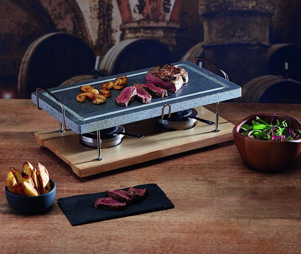 BBQ Grill Stone Large For Indoor Table Top Griddle Pot Hot