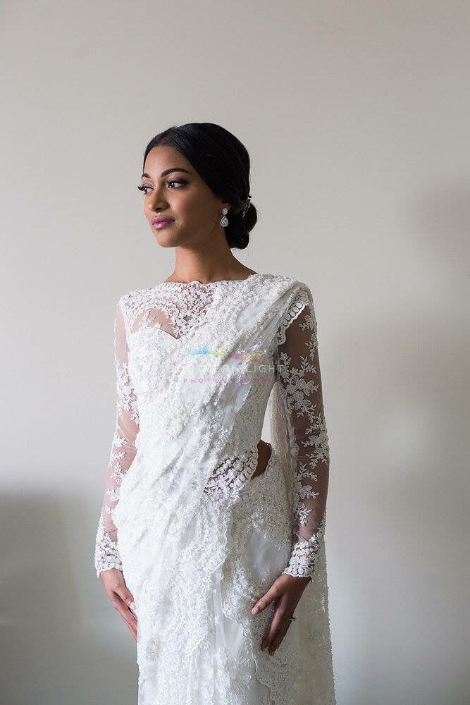By ethni q bridal couture pinteres for Sari inspired wedding dress