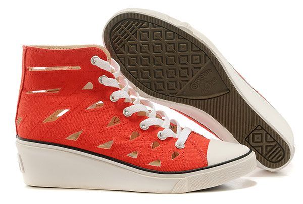 3b91b5f060b8  converse Gladiator Shoes Converse All Star Wedge Heels Womens Canvas  Platform Sandals Red High