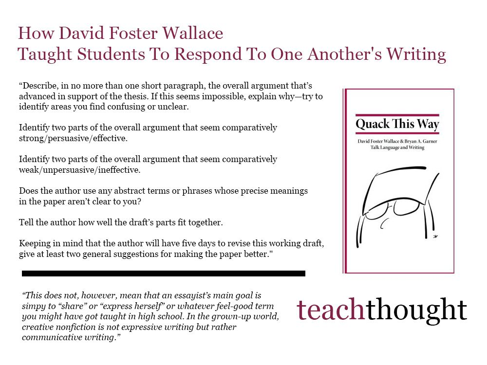 How David Foster Wallace Taught Students To Respond To One