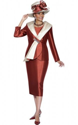 Susanna S Church Suit 3409 Iridescent Brown Rust On Sale At