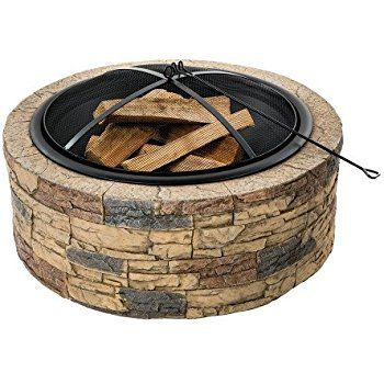 Amazon Com Sunnydaze Heavy Duty Fire Pit Ring Liner Diy Fire Pit Above Or In Ground 2 0 Mm Thickness Large Fire Pit Fire Pit Decor Stone Fire Pit