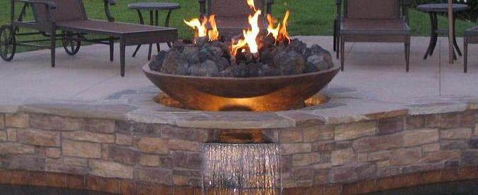 Large Lava Rock Fire Bowls Fire Glass Fire Pit