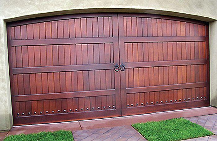 Arched Wood Garage Door In San Diego Garage Doors Wood Garage Doors