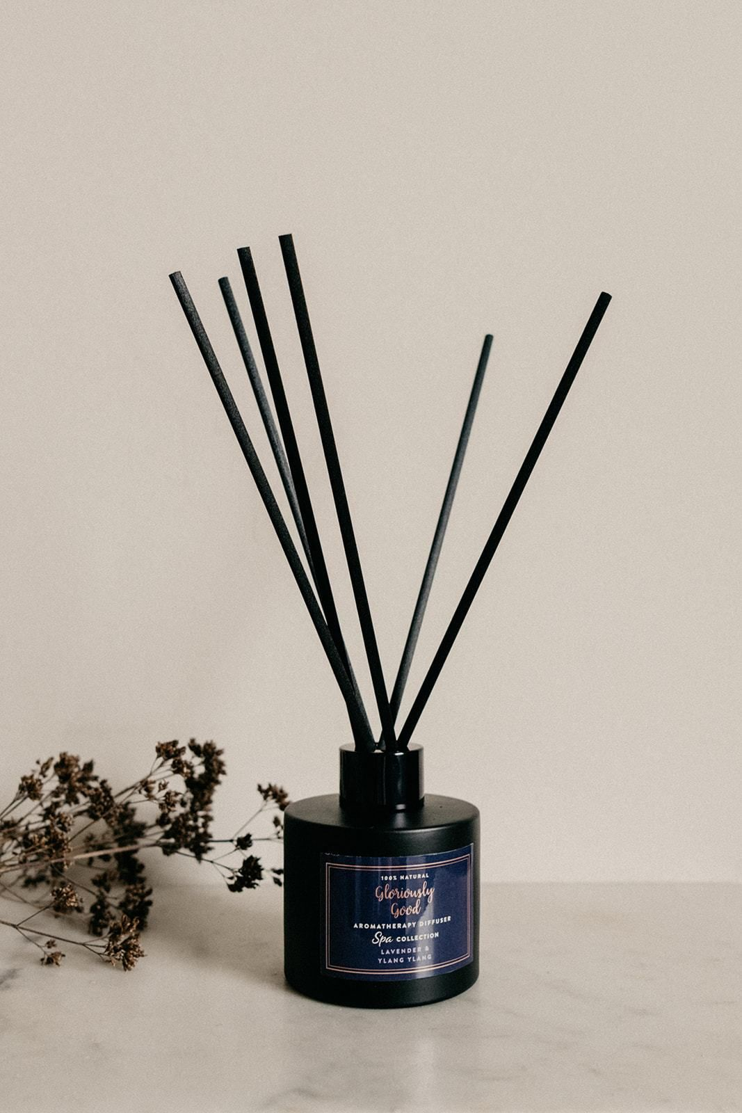 Lavender & Ylang Ylang Satin Black Reed Diffuser