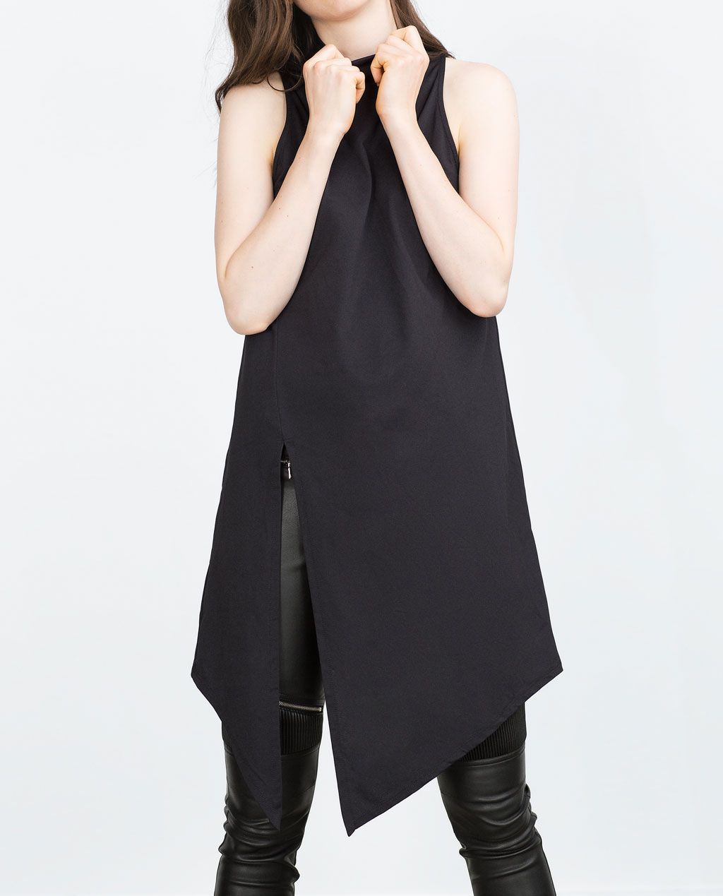 Long asymmetric top style and trends pinterest zara united