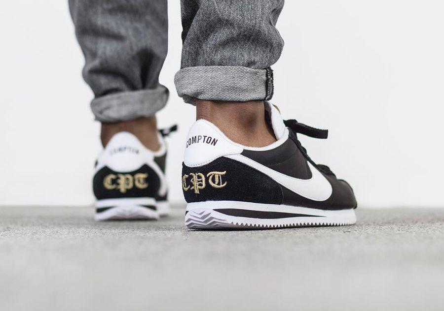 Nike Zapatillas de deporte de nailon en blanco y negro