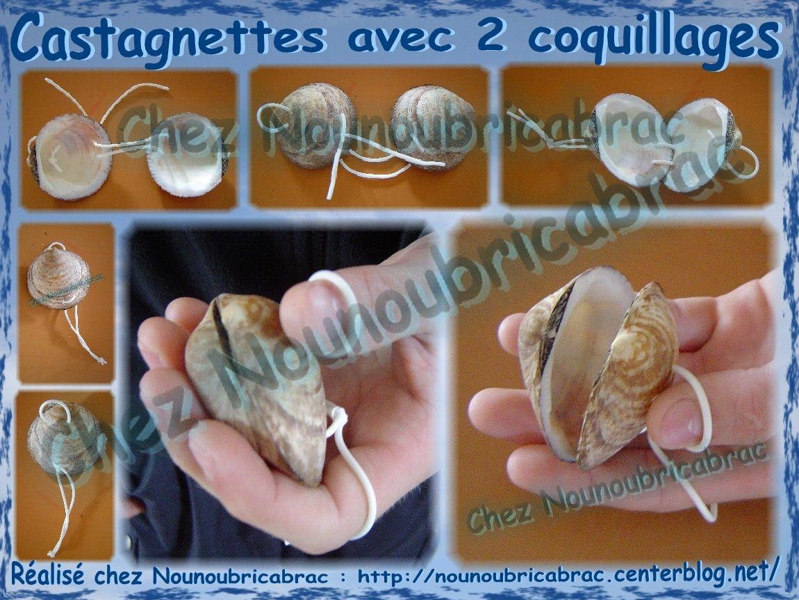 Relativ Castagnettes *1* fabriquées avec des coquillages | ☼ Fête de la  QY29