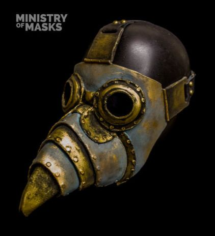 The Tinker (verdigris) Steampunk Plague mask by Ministryofmasks