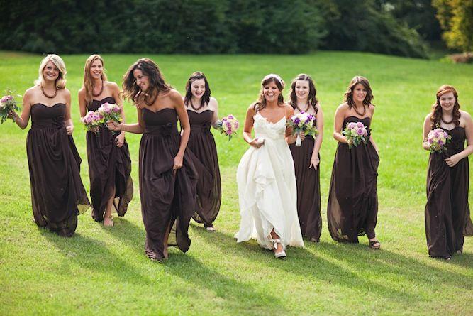 Rustic Chic Brown Purple Green Diy Wedding Purple And Green Wedding Brown Wedding Brown Bridesmaid Dresses